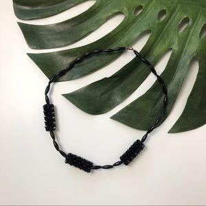 Vintage textured statement necklace